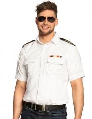 Kaptajn skjorte hvid - mand