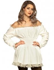 renæssance tunika hvid - kvinde