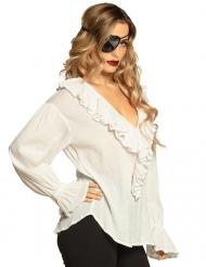 Pirat tunika hvid - kvinde