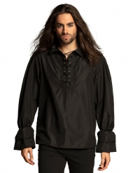 Sort pirat skjorte - mand