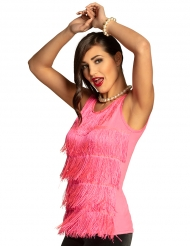 Tanktop med frynser lyserød - kvinde