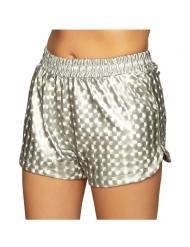 Sporty shorts sølvfarve