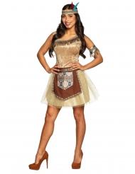 Glansfuld indianer kostume - kvinde