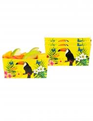 4 skåle tukan gul 7 x 7 x 14 cm