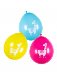 6 Latex balloner lama flerfarver 25 cm
