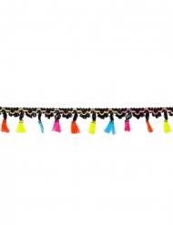Guirlande i polyester mexicansk med pomponer 2 m