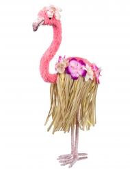 Lyserød flamingo med ben 35 x 16 cm