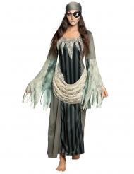Piratspøgels lang kjole - kvinde