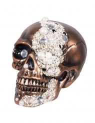 Kranie med diamanter og prler 16 x 15 x 21 cm