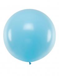 Kæmpe latex ballon 1m - Blå