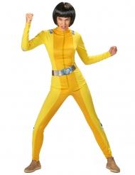 Spion kostume gul - kvinde