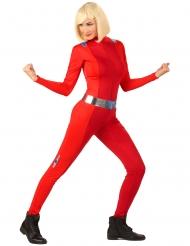 Spion kostume rød - kvinde