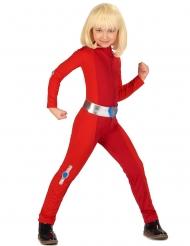 Spion kostume rød - pige