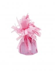 6 Ballonvægte med lyserøder frynser