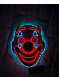 Skør klovn maske LED - Voksen