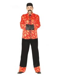 Kinesisk kostume rød og guld - mand