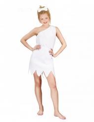 Hulekvinde kostume hvid - kvinde