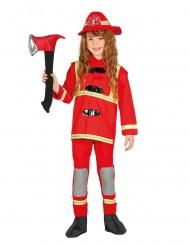 Brandman kostume rød - barn
