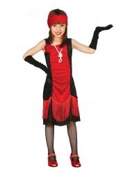 Kabaret kostume rød og sort - pige