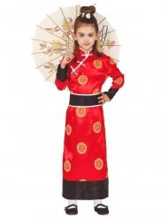 Klassisk kinesisk kostume pige