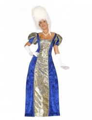 Markise kostume blå - kvinde