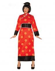 Kinesisk kostume rød - kvinde