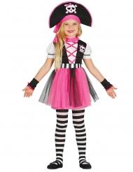 Pirat kostume lyserød - pige
