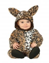 Leopard plys kostume - baby