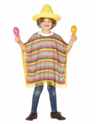 Mexicansk poncho kostume - børn