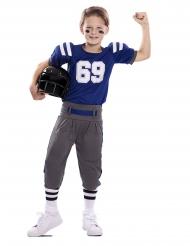 Amerikansk fodboldspiller kostume blå - barn