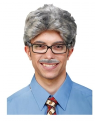 Grå paryk og skæg - voksen
