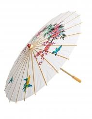 Kinesisk paraply i papir hvid 56 cm