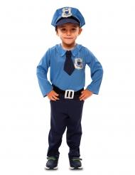 Politiagent kostume - dreng