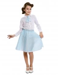 Skørte med slips pin-up lyseblå - pige