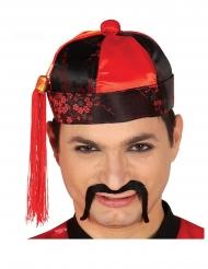 Mandarin hat rød og sort - mand