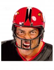 Amerikansk fodboldspiller hjelm rød voksen