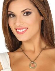 Middelalder halskæde med brilliant - voksen
