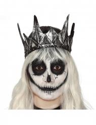 Ond dronninge krone sølvfarvet latex - voksen
