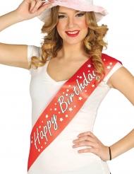 MISS Happy Birthday bånd - voksen