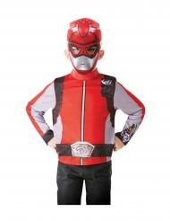 Top og maske rød Power Rangers™ voksen