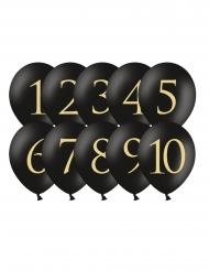 10 Latex balloner tal 1-10