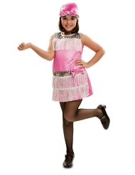 Charleston kostume med hovedbeklædning - pige