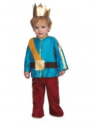 Prins kostume med krone blå - baby