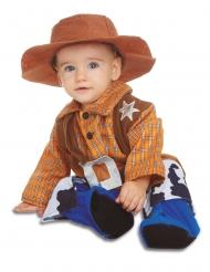 Cowboy kostume med hat - baby
