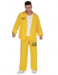 Fange kostume gul - mand