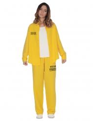 Fange kostume gul - kvinde