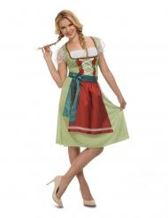 Oktoberfest kjole grøn - kvinde