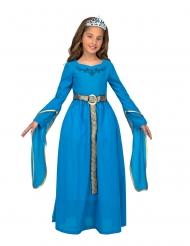 Middelalder prinsesse kostume med diadem - pige