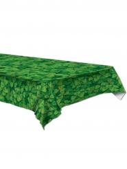 Grøn plastik borddug med trekløver 137 x 274 cm