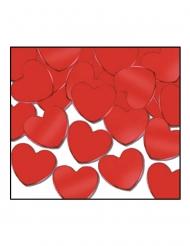 Hjerte konfetti rød 28 g